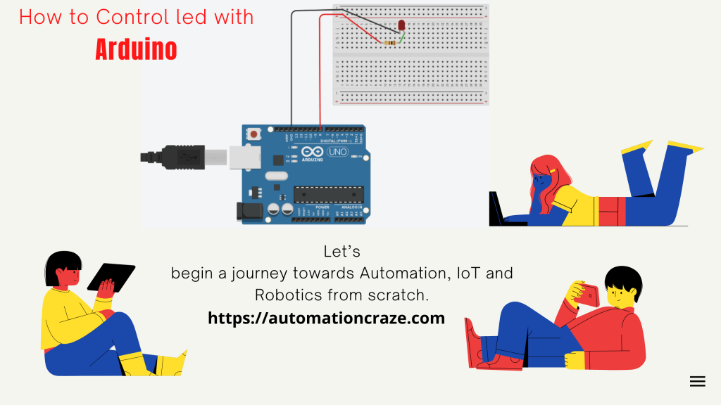 How to control Led with Arduino
